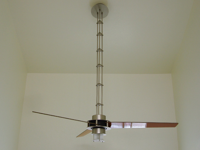 G Squared Art Ceiling Fan Over A Stairway A Good Idea